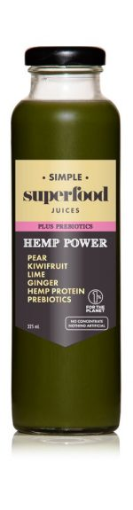 Hemp power prebiotic superfood juice